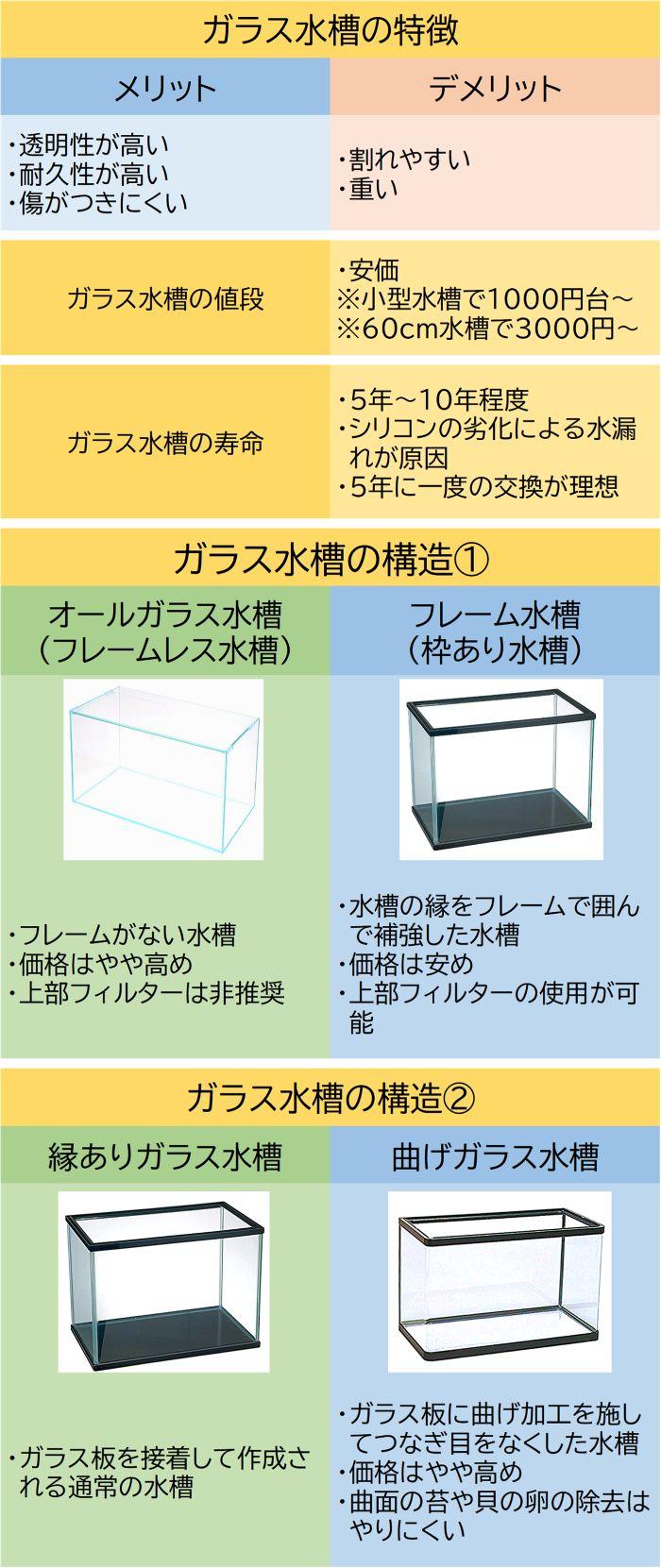 ガラス水槽の特徴や値段、寿命や構造の詳細まとめ