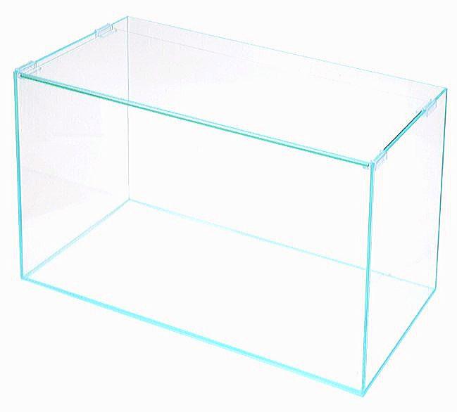 全面がガラスで作られたフレームがないオールガラス水槽