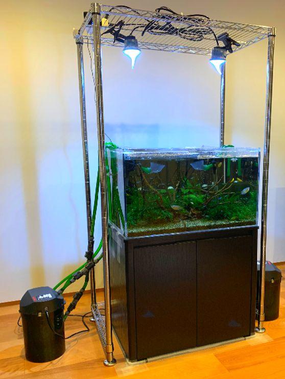 60cmワイド熱帯魚水槽の場合の電気代