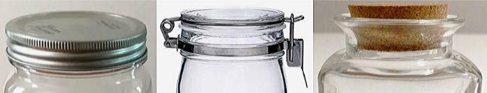 ボトルアクアリウム用の瓶のフタは開閉のしやすさが重要