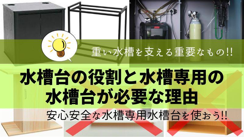 水槽台の役割と水槽専用の水槽台が必要な理由