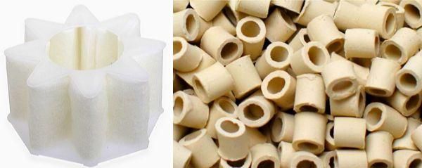 フィルターや濾過装置の中のろ材にはバクテリアが多く定着し、水槽内の水を循環させることにより常に生物濾過が機能する