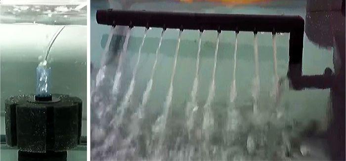 フィルターや濾過装置で水面を叩くだけで酸素供給の効果がある