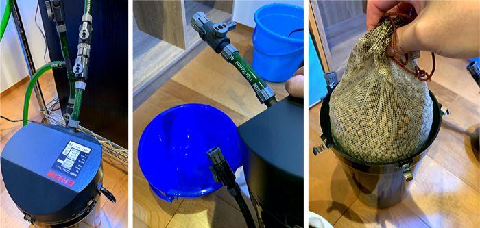 外部式フィルターの掃除やメンテナンスは少々手間がかかる