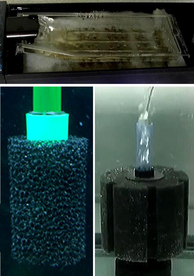物理濾過で水中のごみを取り除く