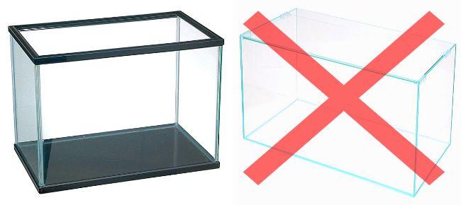オールガラス水槽やフレームレス水槽に上部式フィルターを設置してはいけない