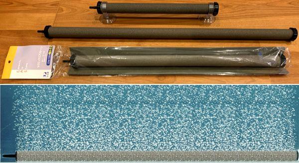 横長タイプのエアーストーンは広範囲の水面を揺らすので酸素供給や水の循環能力が高い