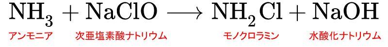 水道水中に含まれるカルキや残留塩素はアンモニアと反応して魚などの生体に有害なクロラミンを発生させる